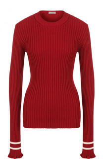 Приталенный пуловер фактурной вязки с открытой спиной MRZ