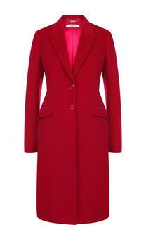Однотонное приталенное пальто из смеси шерсти и кашемира Givenchy