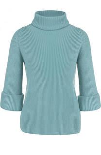 Шерстяной свитер фактурной вязки с укороченным рукавом REDVALENTINO