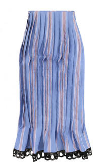 Хлопковая юбка-миди в складку Marni