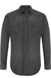 Джинсовая рубашка на кнопках Polo Ralph Lauren