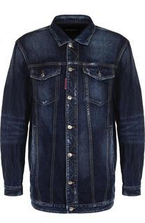 Удлиненная джинсовая куртка на пуговицах Dsquared2
