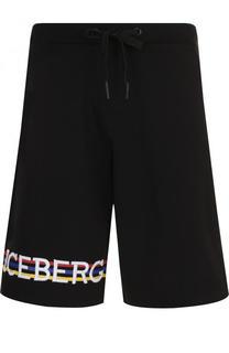 Хлопковые шорты свободного кроя Iceberg