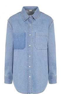 Джинсовая блуза свободного кроя с потертостями Stella McCartney