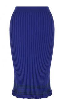 Однотонная юбка-миди фактурной вязки Altuzarra