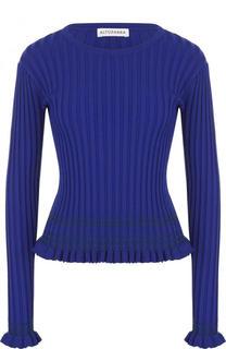Приталенный пуловер фактурной вязки с круглым вырезом Altuzarra