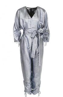 Приталенный комбинезон с поясом и V-образным вырезом Stella McCartney