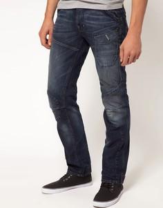 Свободные джинсы с суженными штанинами G Star Skiff Elwood 3D - Синий