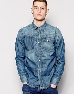 Джинсовая рубашка с длинными рукавами G Star - Синий