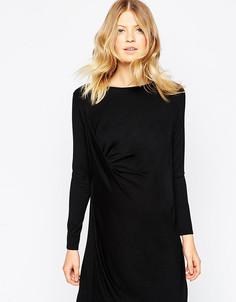 Платье-футболка для беременных с драпировкой ASOS Maternity - Черный