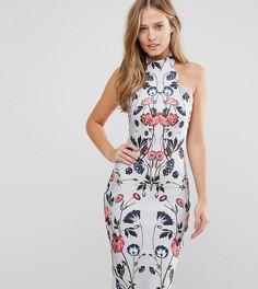 Платье-футляр миди с высокой горловиной и принтом Hope and Ivy - Мульти