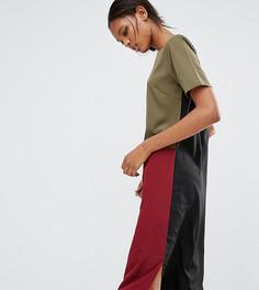 Oversize-платье в стиле колор блок Daisy Street Tall - Мульти