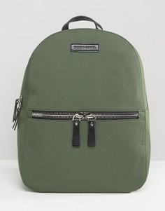 Нейлоновый рюкзак с кожаной отделкой Smith And Canova - Зеленый