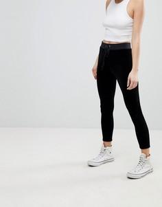 Эластичные велюровые леггинсы Juicy Couture Black Label - Черный
