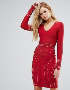 Облегающее платье с длинными рукавами Forever Unique - Красный