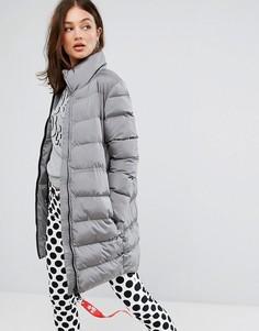 Дутое пальто Love Moschino - Серый
