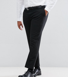 Однотонные эластичные брюки узкого кроя Harry Brown PLUS - Черный
