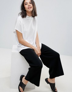 Драпированная футболка с высоким воротником Soaked In Luxury - Белый