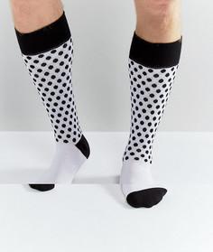 Белые носки в горошек Dr Martens - Белый