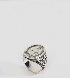 Серебряное кольцо-печатка Rock N Rose - Серебряный