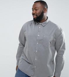 Серая джинсовая рубашка классического кроя River Island PLUS - Серый