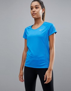 Синяя футболка с круглым вырезом Nike Running - Синий