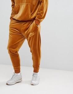 Золотистые велюровые джоггеры Nike AH3388-722 - Золотой