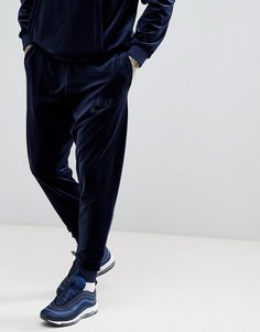Темно-синие велюровые джоггеры Nike AH3388-451 - Темно-синий