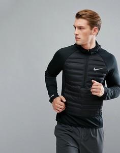 Черная дутая гибридная куртка Nike Running Aeroloft 872371-010 - Черный