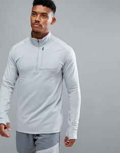 Серый свитшот на молнии 1/4 Nike Running Therma Spehere Element 857829-012 - Серый