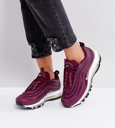 Бордовые кроссовки Nike Air Max 97 Premium - Красный
