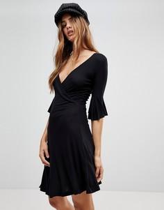 Платье с запахом Brave Soul Holly - Черный