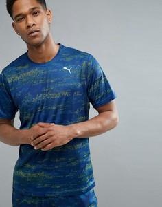 Темно-синяя футболка с принтом Puma Running Nocturnal 51599702 - Темно-синий
