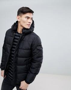 Дутая куртка с карманами на флисовой подкладке Esprit - Черный