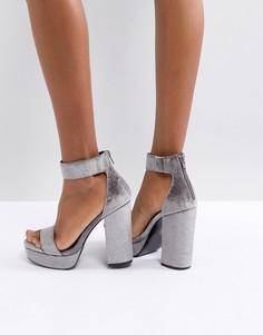 Босоножки на каблуке и платформе ASOS HAIRSPRAY - Серый
