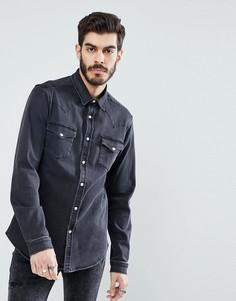 Джинсовая рубашка в стиле вестерн ASOS - Серый