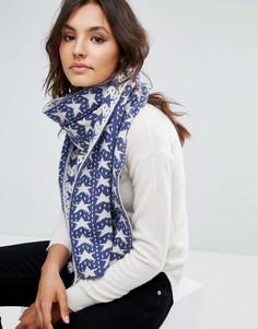 Жаккардовый шарф со звездами Alice Hannah - Черный