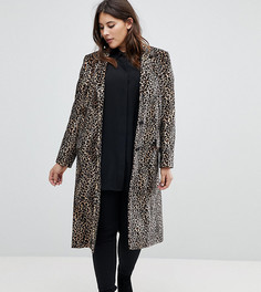Пальто с леопардовым принтом Helene Berman Plus - Мульти