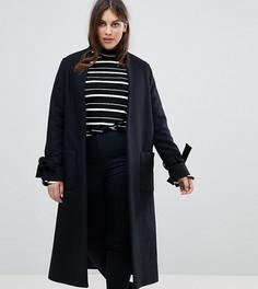 Пальто с завязками на рукавах Helene Berman Plus - Черный