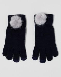 Перчатки из искусственного меха для сенсорного экрана 7X - Темно-синий