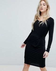 Трикотажное платье с узлом Only Rina - Черный