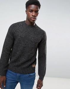 Джемпер крупной вязки Threadbare - Черный