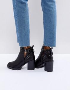 Ботильоны на каблуке с заклепками Miss KG Taffy - Черный