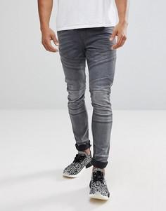 Выбеленные байкерские джинсы скинни ASOS - Черный