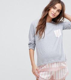 Пижамный комплект с шортами ASOS Maternity - Мульти