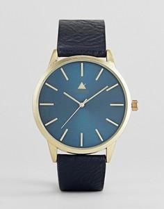 Темно-синие часы с ремешком из искусственной кожи ASOS - Темно-синий