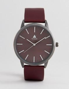 Часы с бордовым ремешком из искусственной кожи ASOS - Красный