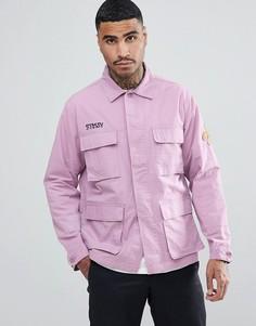 Куртка с вышивкой Stussy Letts - Фиолетовый