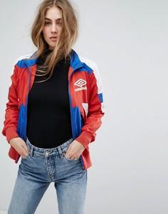 Спортивная куртка колор блок в стиле ретро на молнии Umbro - Мульти