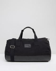 Черная парусиновая сумка дафл Systvm - Черный